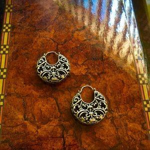 Lucky 🍀 Brand - Filigree Hoop Earrings Never Worn